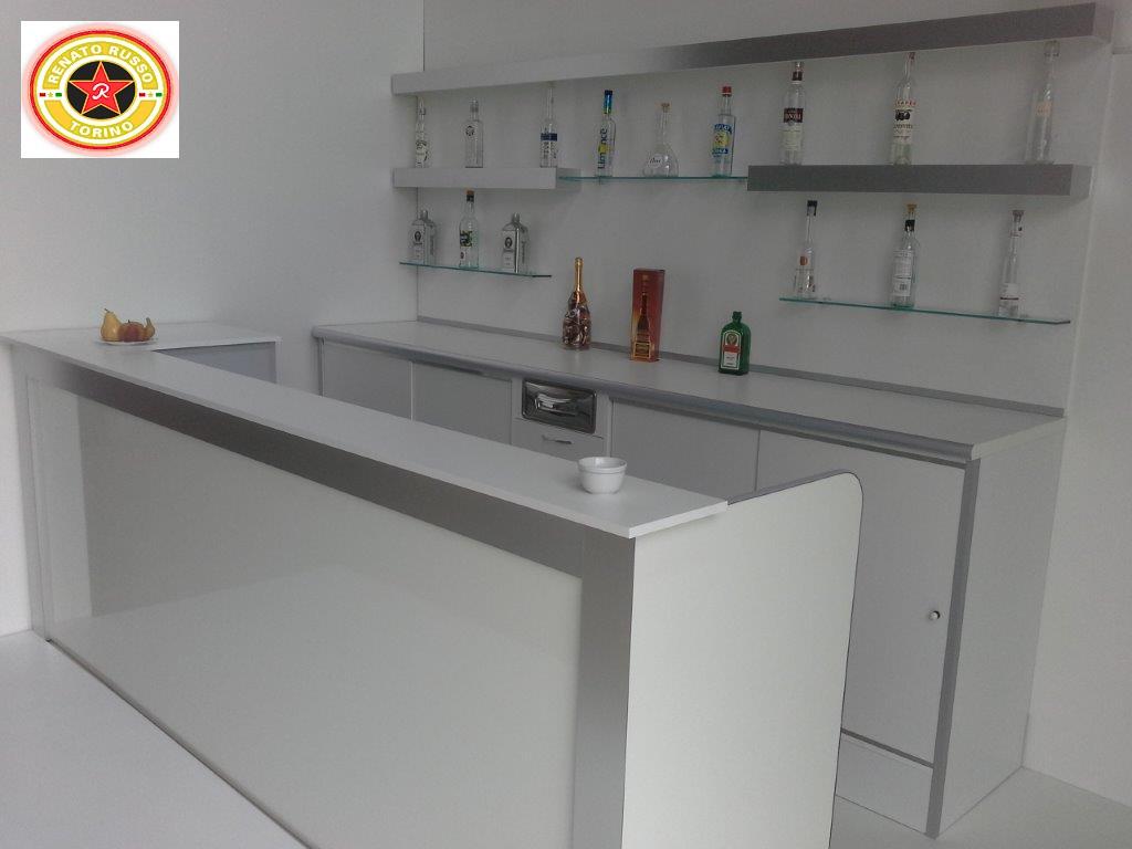 SIMMOB Bar bancone bianco ricoperto stampato
